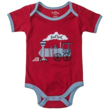 Hatley Applique Baby Bodysuit - Short Sleeve (For Infants) in Toot Toot - Closeouts