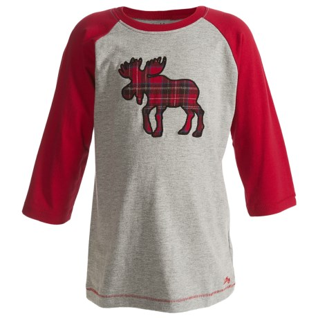 Hatley Baseball T-Shirt - Cotton, 3/4 Sleeve (For Kids) in Race Team