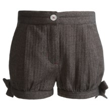 Hatley Bloomer Shorts (For Girls) in Coal Herringbone - Closeouts
