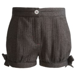 Hatley Bloomer Shorts (For Girls) in Coal Herringbone