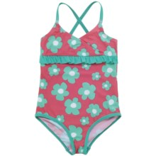 Hatley Blue Flowers Swimsuit - One-Piece (For Grils) in Blue Flower - Closeouts