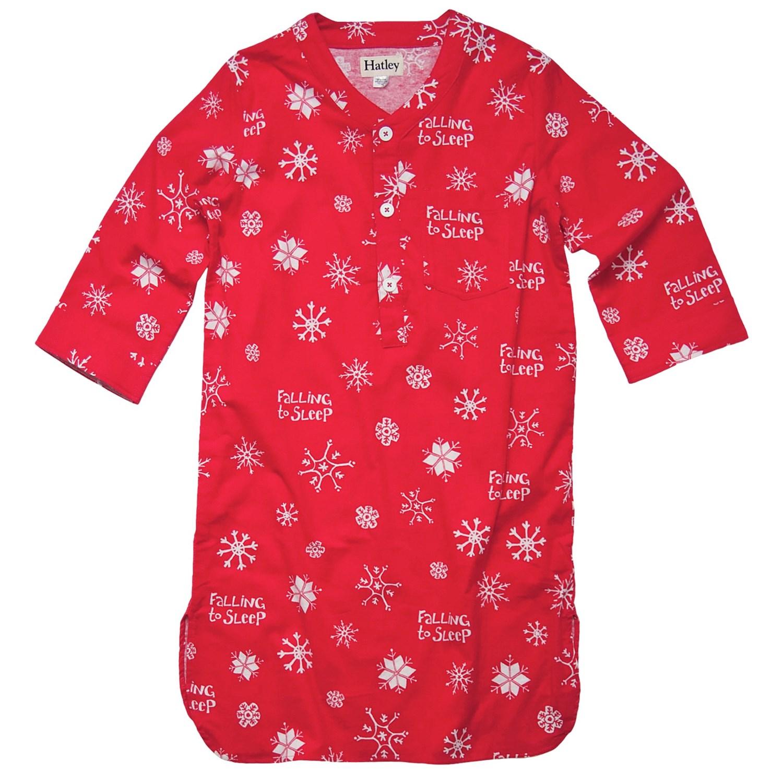 Hatley brushed flannel nightshirt long sleeve for women for Womens flannel night shirts