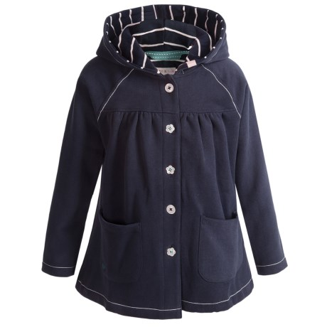 Hatley Button-Down Jacket - Hooded (For Girls) in Navy