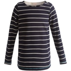Hatley Button Shoulder Shirt - Slub Cotton, Long Sleeve (For Girls) in Zig Zags