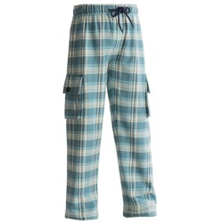 Hatley Cargo Pants - Cotton Flannel (For Kids) in Pink Plaid Labs