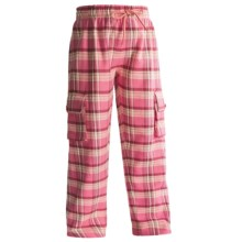Hatley Cargo Pants - Cotton Flannel (For Kids) in Pink Plaid Labs - Closeouts
