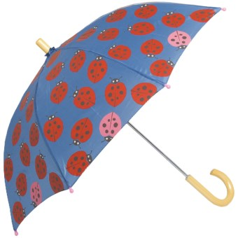 Hatley Child-Safe Umbrella - Wood Handle and Tip in Nordic Bugs