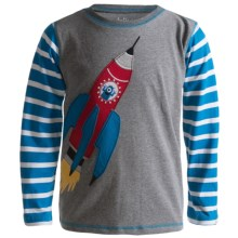 Hatley Cotton Graphic T-Shirt - Long Sleeve (Boys) in Blast Off - Closeouts