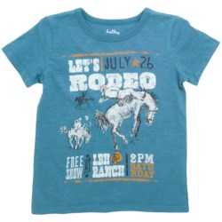 "Hatley Cotton Graphic T-Shirt - Short Sleeve (For Boys) in Cowboy ""Lets Rodeo"""
