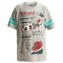 Hatley Cotton Graphic T-Shirt - Short Sleeve (For Boys) in Submarines - Closeouts