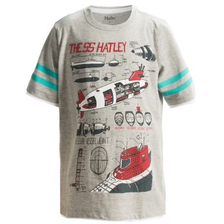 Hatley Cotton Graphic T-Shirt - Short Sleeve (For Boys) in Submarines