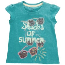 Hatley Cotton Graphic T-Shirt - Short Sleeve (For Little Girls) in Shades Of Summer - Closeouts
