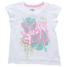 Hatley Cotton Graphic T-Shirt - Short Sleeve (For Little Girls) in Surfer Girl - Closeouts