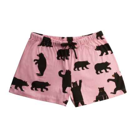 Hatley Cotton Jersey Boxer Shorts (For Women) in Pink Bears - Closeouts