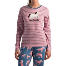 Hatley Cotton Jersey Pajama Top - Long Sleeve (For Women) in Pasture Bedtime - Closeouts