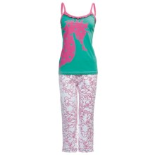 Hatley Cotton Jersey Pajamas - Camisole and Pants (For Women) in Sea Horses - Closeouts