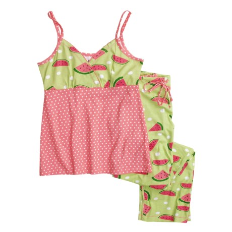 Hatley Cotton Jersey Pajamas - Camisole and Pants (For Women) in Watermelons