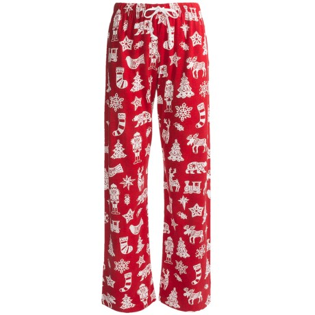 Hatley Cotton Jersey Pants (For Women) in Papercut Christmas