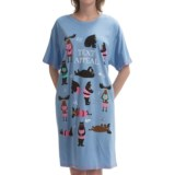 Hatley Cotton Knit Nightshirt - Short Sleeve (For Women)