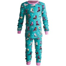 Hatley Cotton Pajamas - Long Sleeve (For Kids) in Figure Skates - Closeouts