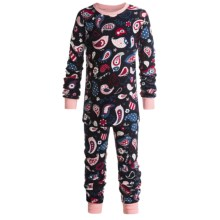 Hatley Cotton Pajamas - Long Sleeve (For Kids) in Paisley Birds - Closeouts