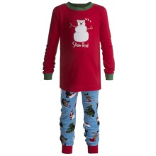 Hatley Cotton Pajamas - Long Sleeve (For Kids) in Snow Tired Applique - Closeouts