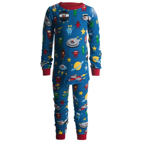 Hatley Cotton Pajamas - Long Sleeve (For Kids) in Space Ships