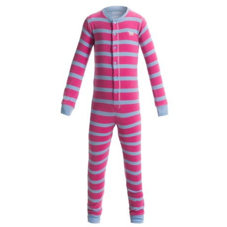 Hatley Cotton Union Suit Pajamas - Long Sleeve (For Toddlers) in Horse Stripes