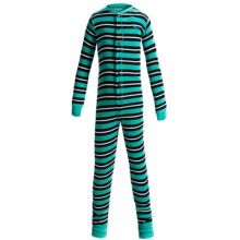 Hatley Cotton Union Suit Pajamas - Long Sleeve (For Toddlers) in Shark Stripes - Closeouts