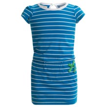 Hatley Drop Waist Dress - Short Sleeve (For Toddler Girls) in Blue Glare Stripes - Closeouts