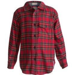 Hatley Flannel Plaid Shirt - Long Sleeve (For Kids) in Moose Plaid
