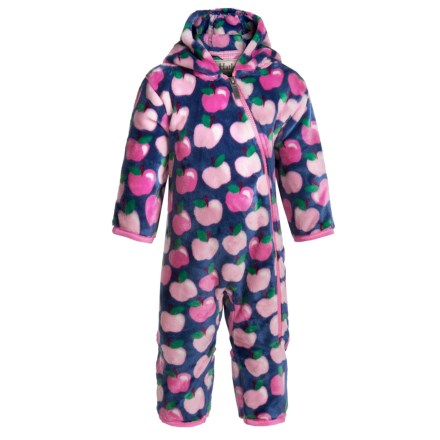 4fc547756 Hatley Fuzzy Fleece Bunting Suit - Hooded (For Infants and Toddlers) in  Apple Orchard