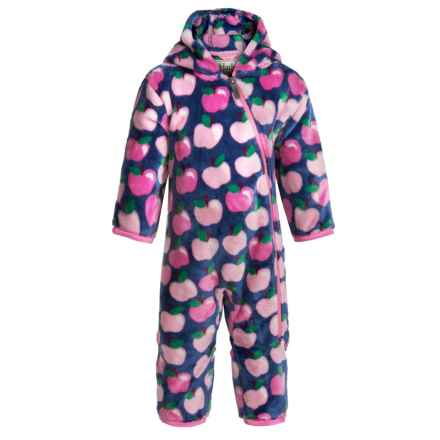 Hatley Fuzzy Fleece Bunting Suit - Hooded (For Infants and Toddlers) in Apple Orchard - Closeouts