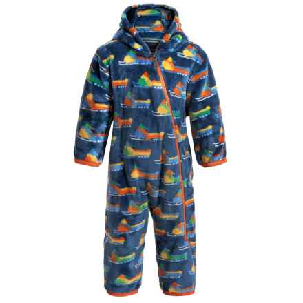 Hatley Fuzzy Fleece Bunting Suit - Hooded (For Infants and Toddlers) in Vintage Snowmobiles - Closeouts