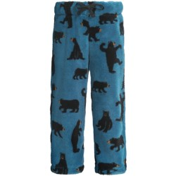 Hatley Fuzzy Fleece Pants (For Kids) in Ice Monster