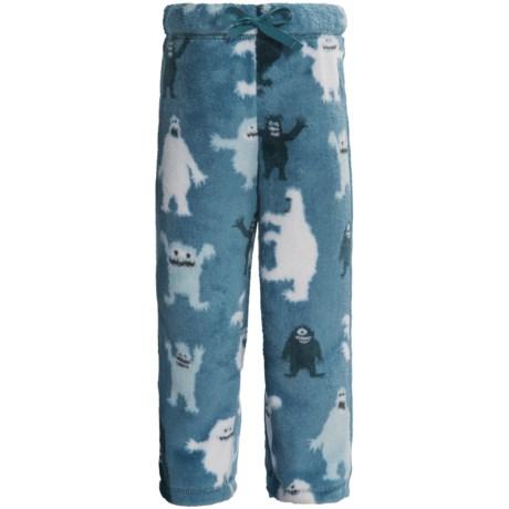 Hatley Fuzzy Fleece Pants (For Kids) in Ice Monster