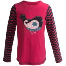 Hatley Graphic Shirt - Cotton, Long Sleeve (For Girls) in Paisley Birds - Closeouts