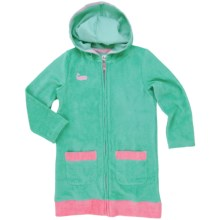 Hatley Hooded Beach Cover-Up (For Little Girls) in Pink Whale - Closeouts