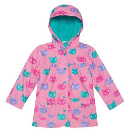 Hatley Hooded Rain Coat (For Kids) in Silly Kitties - Closeouts