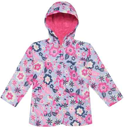Hatley Hooded Rain Coat (For Kids) in Sketchy Flowers - Closeouts