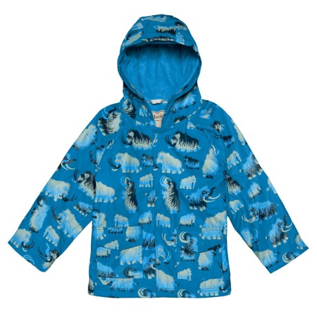 Hatley Hooded Rain Coat (For Kids) in Wooly Mammoths