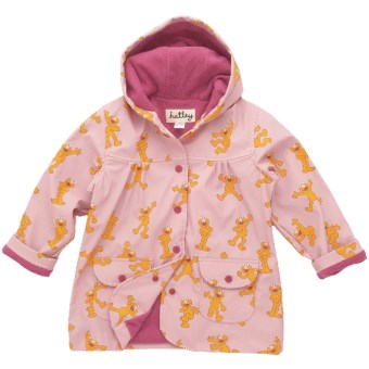 Hatley Hooded Terry-Lined Rain Coat (For Kids) in Elmo