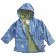 Hatley Hooded Terry-Lined Rain Coat (For Kids) in Fun Snakes - Closeouts
