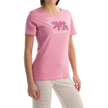 Hatley Jersey Shirt - Short Sleeve (For Women) in Pink Bearly Sleeping - Closeouts