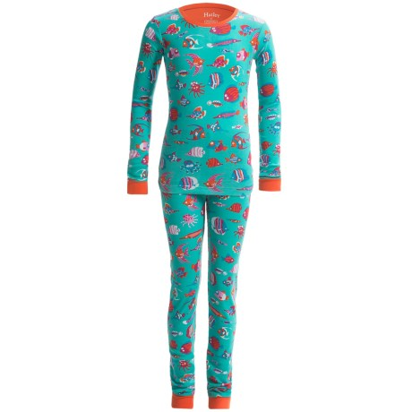 Hatley Knit Cotton Pajamas - Long Sleeve (For Little Kids) in Fun Fish