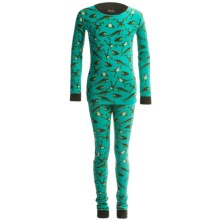 Hatley Knit Cotton Pajamas - Long Sleeve (For Little Kids) in Jumpling Frogs - Closeouts