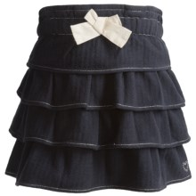 Hatley Layered Skirt - Cotton (For Girls) in Charcoal Herringbone Twill - Closeouts