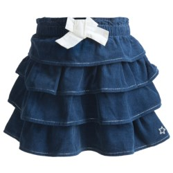 Hatley Layered Skirt - Cotton (For Girls) in Charcoal Herringbone Twill