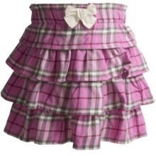 Hatley Layered Skirt - Cotton (For Girls) in Plaid Pretty Horses - Closeouts