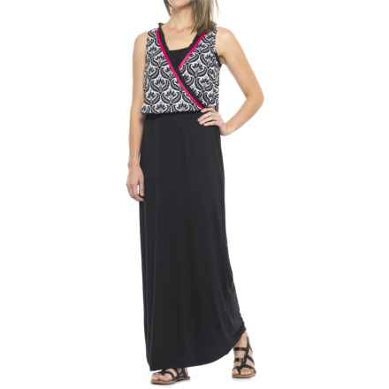 Hatley Maxi Dress - Sleeveless (For Women) in Black/White - Closeouts